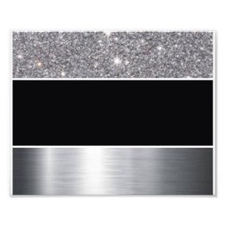 Glitter Black Silver Pattern Print Design Photo