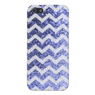 Glitter Bling Sparkly Chevron Pattern (blue) Cover For iPhone 5/5S