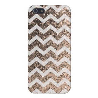 Glitter Bling Sparkly Chevron Pattern (champagne) iPhone 5/5S Cover