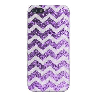 Glitter Bling Sparkly Chevron Pattern (purple) iPhone 5/5S Case