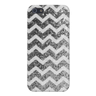 Glitter Bling Sparkly Chevron Pattern (silver) Case For iPhone 5/5S