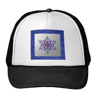 Glitter Blue Star Trucker Hat