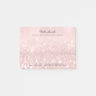 Glitter Blush Name Web Telephone Number Pink Post-it Notes