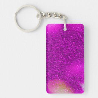 Glitter Bokeh, hot pink Single-Sided Rectangular Acrylic Keychain