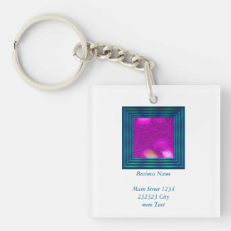 Glitter Bokeh, hot pink Single-Sided Square Acrylic Keychain