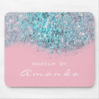 Glitter Branding Beauty Studio Makeup Blue Pink Mouse Pad