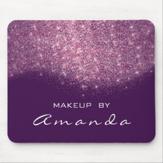 Glitter Branding Beauty Studio Makeup Purple Pink Mouse Pad