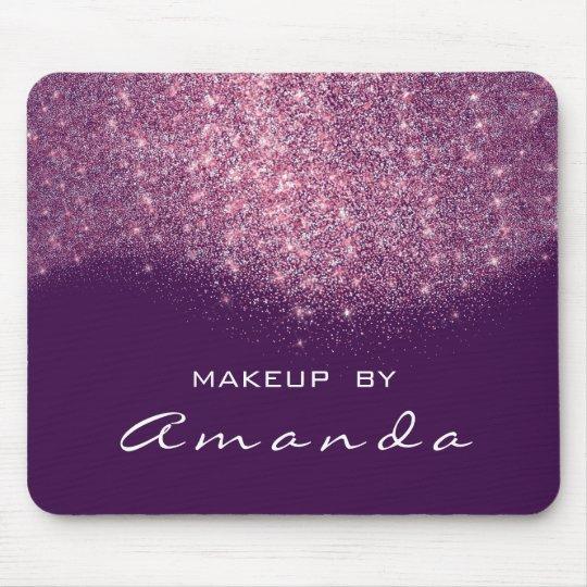 Glitter Branding Beauty Studio Makeup Purple Pink Mouse Pad
