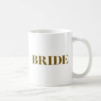 Glitter Bride Gold Basic White Mug