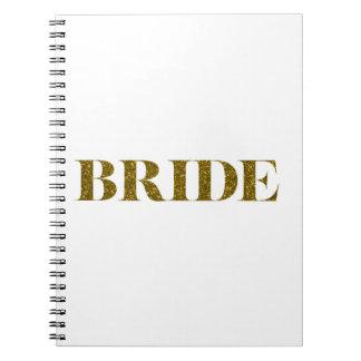 Glitter Bride Gold Note Books
