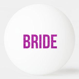 Glitter Bride Pink Ping Pong Ball