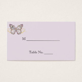 Glitter Butterfly on Lavender Wedding Place Cards