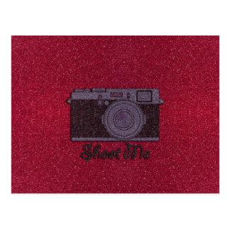 Glitter Camera Postcard