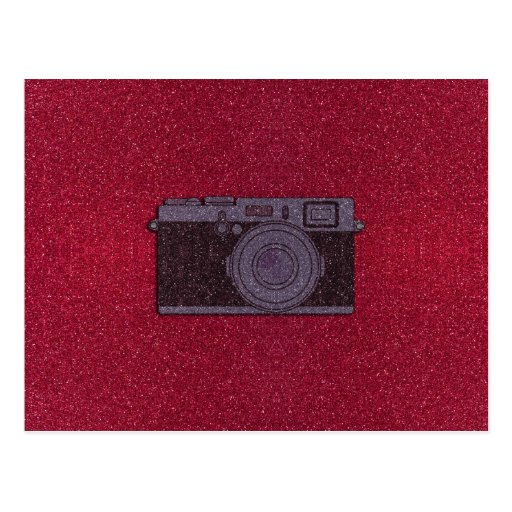 Glitter Camera Post Cards