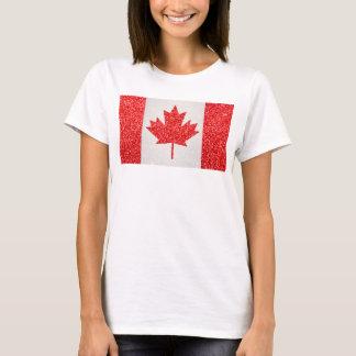 Glitter Canada flag womens tshirt