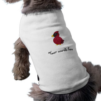 Glitter cardinal sleeveless dog shirt