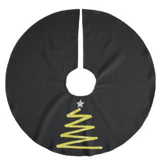 Glitter Christmas tree Brushed Polyester Tree Skirt