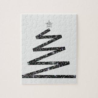 Glitter Christmas tree Jigsaw Puzzle