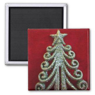 Glitter Christmas tree Refrigerator Magnet