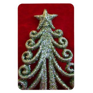 Glitter Christmas tree Rectangular Photo Magnet
