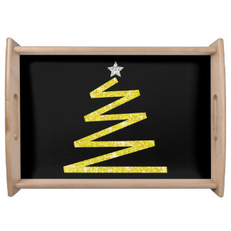 Glitter Christmas tree Serving Tray