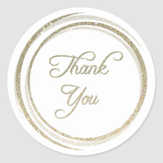 Glitter Circles Thank You Sticker