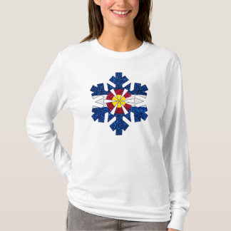 Glitter Colorado flag snowflake ladies shirt