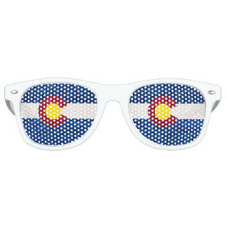 Glitter Colorado flag wayfarer sunglasses