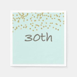 Glitter Confetti 30th Disposable Serviette