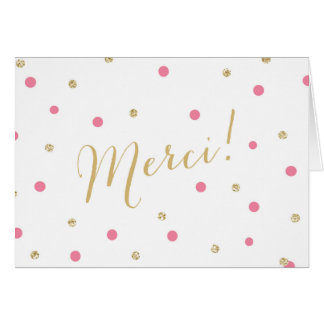 Glitter Confetti Merci Card