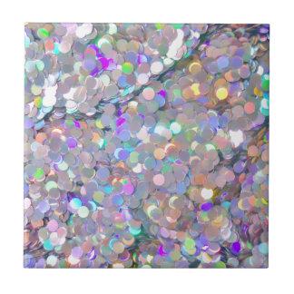 Glitter Confetti Sparkles Ceramic Tile