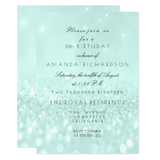 Glitter Delicate Pastel Tiffany Aqua Bridal Card