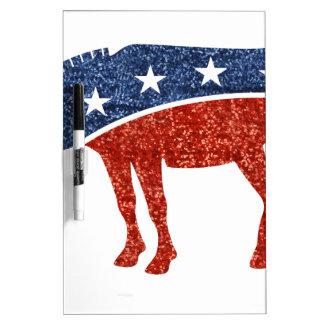 glitter democrat donkey Dry-Erase whiteboard