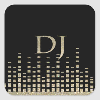 Glitter DJ Sticker
