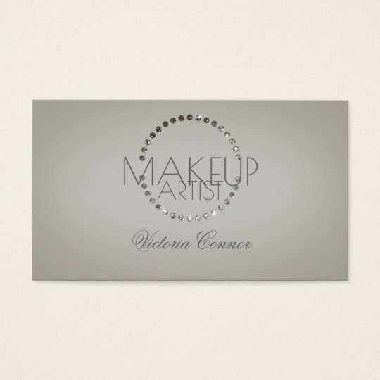 Glitter Dot Circle Makeup Artist Elegant Card