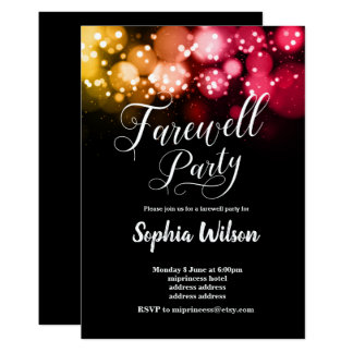 glitter Farewell Party invite