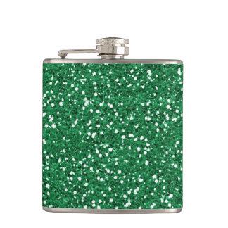 Glitter Faux Foil Confetti Hip Flask