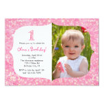 Glitter First Birthday Invitation