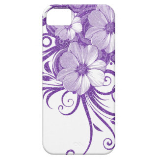 Glitter Floral Vines & Flowers In Purple iPhone 5 Covers