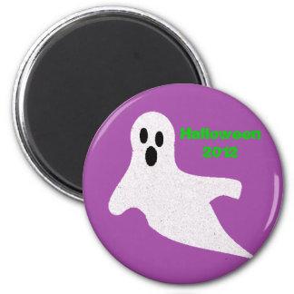 Glitter Ghost 6 Cm Round Magnet