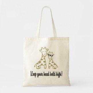 Glitter Giraffes Tote Bag