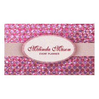 Glitter Glam Pink Polka Dots Pack Of Standard Business Cards