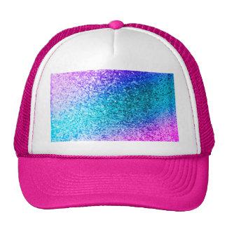 glitter,glam,pink,turquoise,metallic,trendy,girly, trucker hat