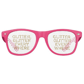 Glitter glitter every where retro sunglasses