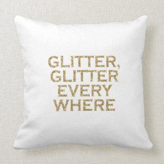 glitter glitter every where throw pillow