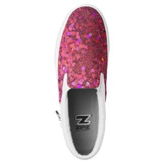 "Glitter ""Glitz"" Zipz Pink Shoes! Printed Shoes"
