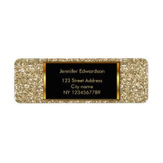 Glitter gold bling classy return address return address label