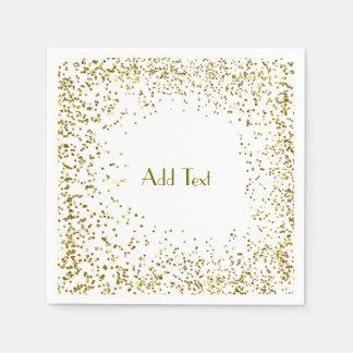 Glitter Gold Napkin Disposable Serviette