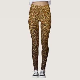 Glitter Gold Rave Love Leggings