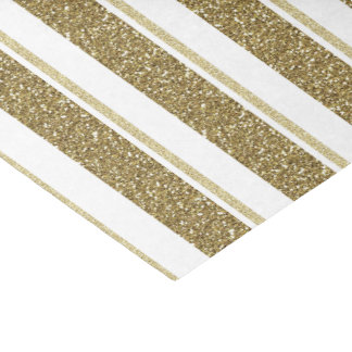 "Glitter Gold Stripes - Customize ""Background Color Tissue Paper"